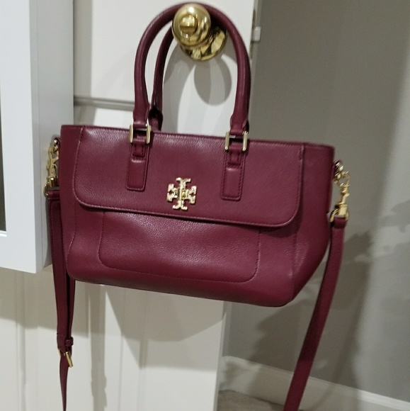 739f1b345830 Tory Burch Mercer mini satchel shiraz burgundy bag